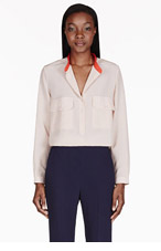 STELLA MCCARTNEY Blush Silk Blouse for women