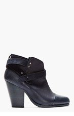 RAG & BONE Deep Navy leather Harrow Boot for women