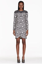 STELLA MCCARTNEY Black & white Heart Print tunic dress for women