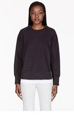 6397 Black Raglan Crewneck Sweater for women