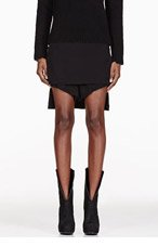 RICK OWENS Black Lotus Hybrid Shorts for women