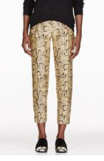 STELLA MCCARTNEY Gold Snake Print Trousers for women