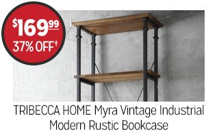TRIBECCA HOME Myra Vintage Industrial Modern Rustic Bookcase - $169.99 - 37% off‡