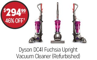 Dyson DC41 Fuchsia Upright Vacuum Cleaner (Refurbished) - $294.99 - 46% off‡