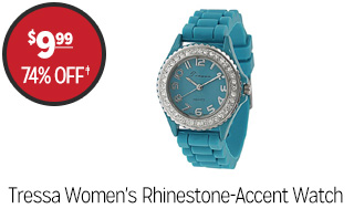 Tressa Women's Rhinestone-Accent Watch - $9.99 - 74% off‡