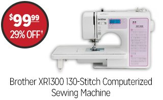 Brother XR1300 130-Stitch Computerized Sewing Machine - $99.99 - 29% off‡