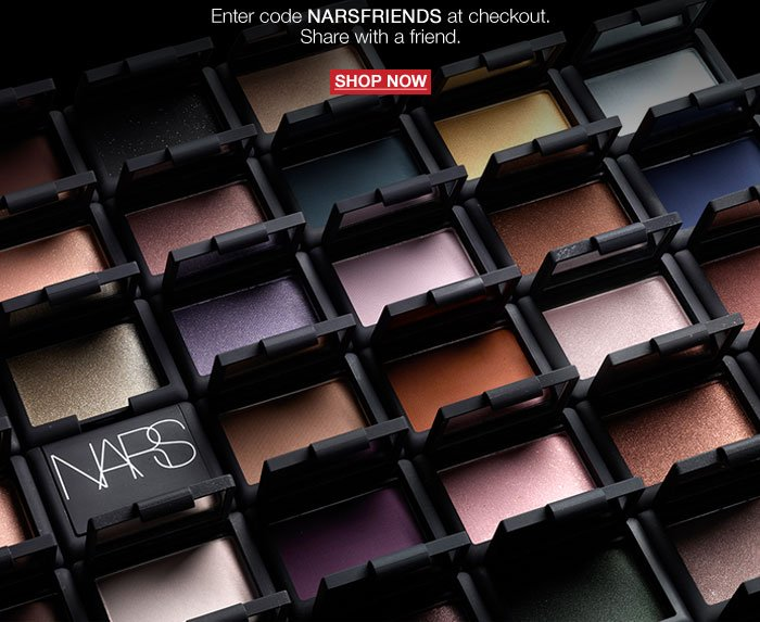 Enjoy 20% off Online and at NARS Flagship Boutiques*