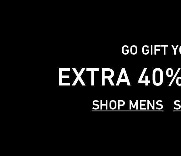 Shop Men's Extra 40% Off Sale.