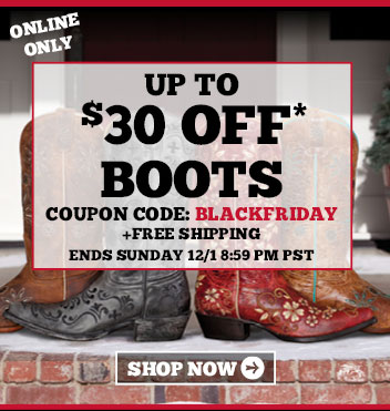 Online Only - Up To $30 Off Boots + Free Shipping - Ends 12/1