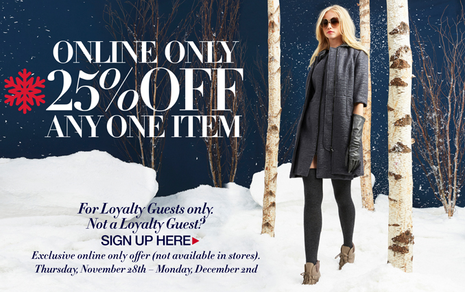 25% Off One Item- Non Loyalty Members Only- Unknown