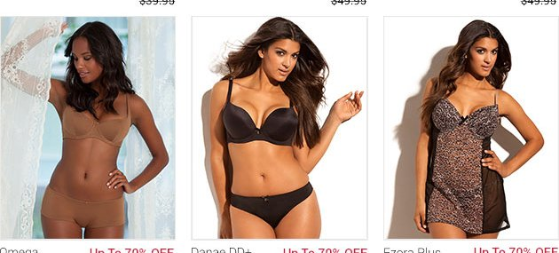 Lingerie for up to 70 percent off