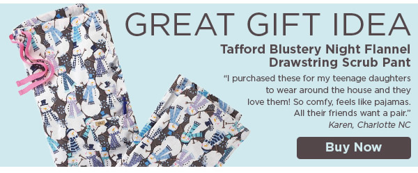 Tafford Blustery Night Flannel Drawstring Scrub Pant - Buy Now