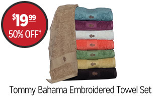 Tommy Bahama Embroidered Bath Towel Set - $19.99 - 50% off‡