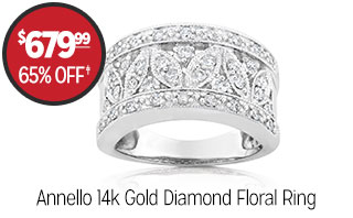 Annello 14k Gold Diamond Floral Ring - $679.99 - 65% off‡