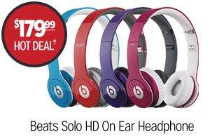 Beats Solo HD ON Ear Headphone - $179.99 - Hot Deal‡