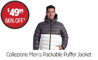 Collezione Men's Packable Puffer Jacket - $49.99 - 66% off‡