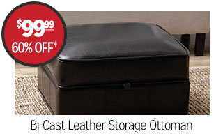 Bi-Cast Leather Storage Ottoman - $99.99 - 60% off‡