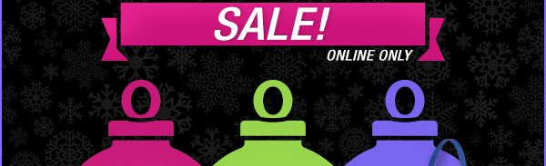 Cyber Sunday and Monday Sale! Online only.