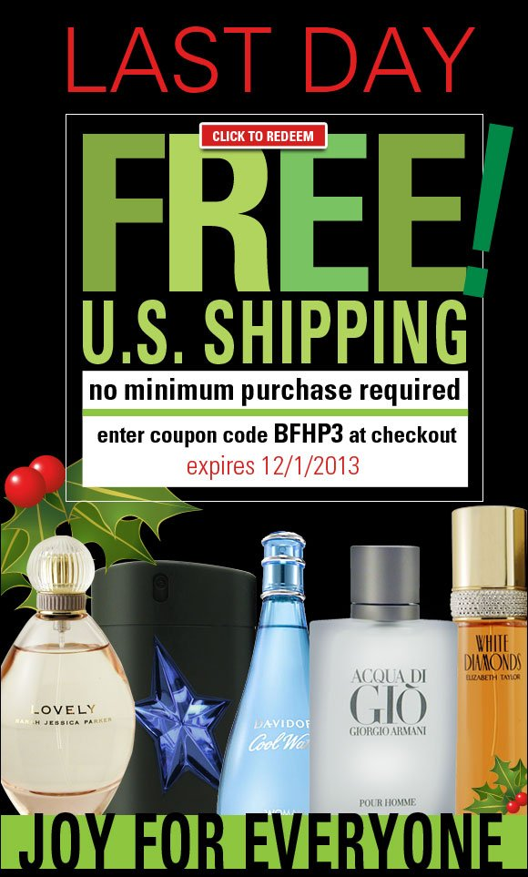 Ends today! FREE Shipping* on all orders