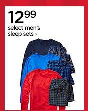 12.99 select men's sleep sets›
