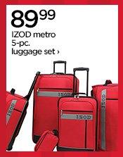 89.99 IZOD metro 5-pc. luggage set›