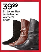 39.99 St. John's Bay jamie leather women's boots›