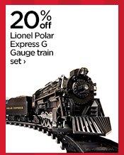 20% off Lionel Polar Express G Gauge train set›