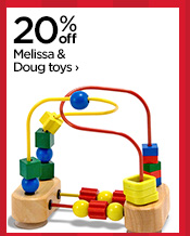 20% off Melissa & Doug toys›