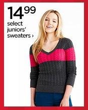 14.99 select juniors' sweaters›