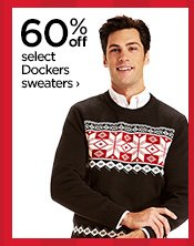60% off select Dockers sweaters›