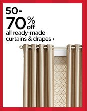 50-70% off all ready-made curtains & drapes›