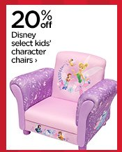 20% off Disney slect kids' character chairs›