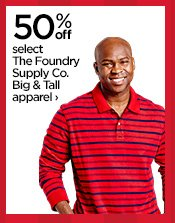 50% off select The Foundry Supply Co. Big & Tall  apparel›