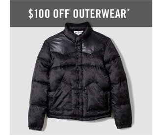$100 Off Outerwear - Shop Mens