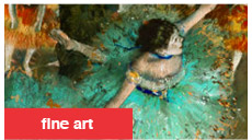 fine art - The Green Dancer By: Edgar Degas