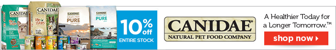 10% off entire stock of Canidae