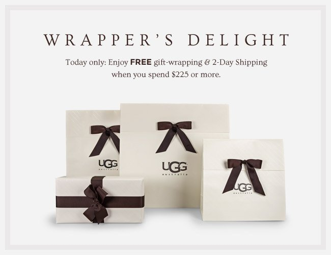 WRAPPER'S DELIGHT - TODAY ONLY: ENJOY FREE GIFT WRAPPING