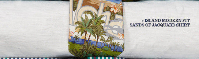 Island Modern Fit Sands of Jacquard Shirt