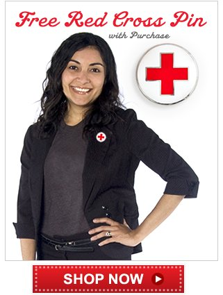 Free Red Cross Pin with Purchase