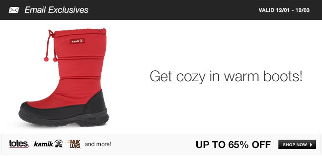 Get cozy in warm boots!