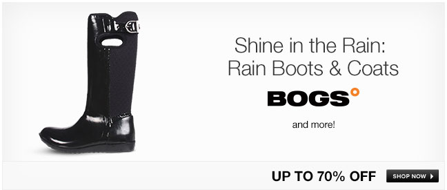 Shine in Rain: Rain Boots and Coats
