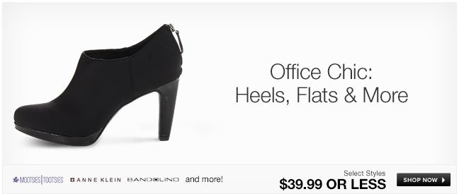 Office Chic: Heels, Flats and More