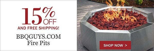 15% OFF BBQGuys.com Fire Pits