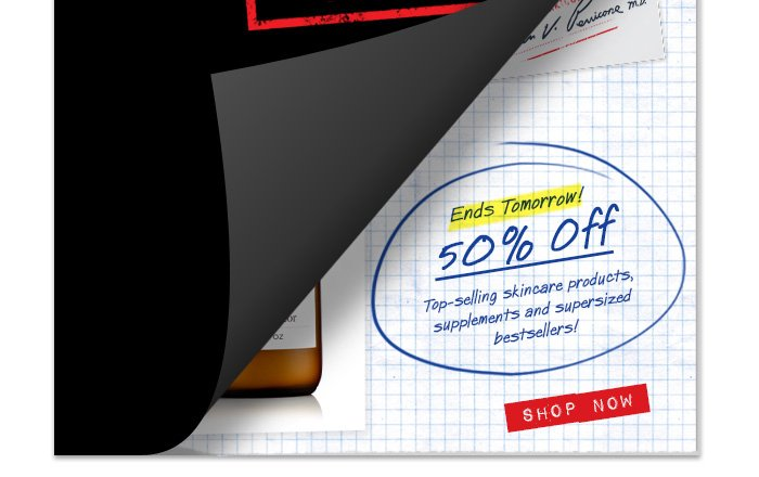 Ends tomorrow - 50% Off