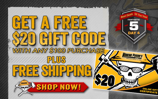 Get A FREE $20 Gift Code With Any $100 Purchase + FREE Shipping!