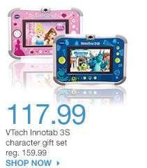 117.99 VTech Innotab 3S character gift set reg. 159.99. SHOP NOW