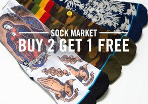 Shop Sock Market: Buy 2 Get 1 Free