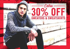Shop Extra 30% Off Sweaters & Sweatshirts