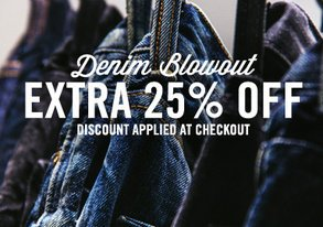 Shop Denim Blowout: Extra 25% Off