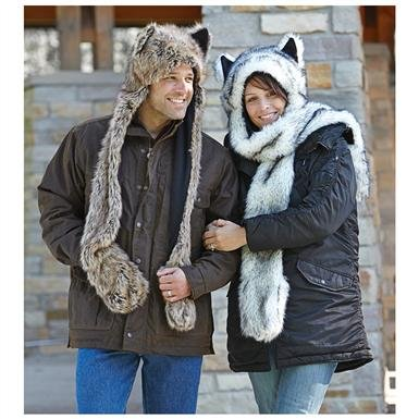 Imitation Mink Animal Hat / Scarf